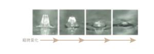 ビタミンCマイクロニードルパッチの針部先端溶解の様子