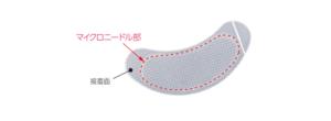 ビタミンCマイクロニードルパッチの接着部分